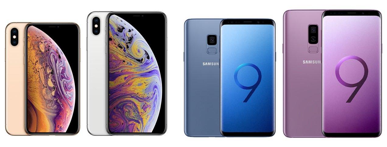 Apple Vs Samsung Iphone Xs Max Und Galaxy S9 S9 Im Vergleich
