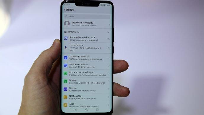 Huawei Mate 20 Pro Menü