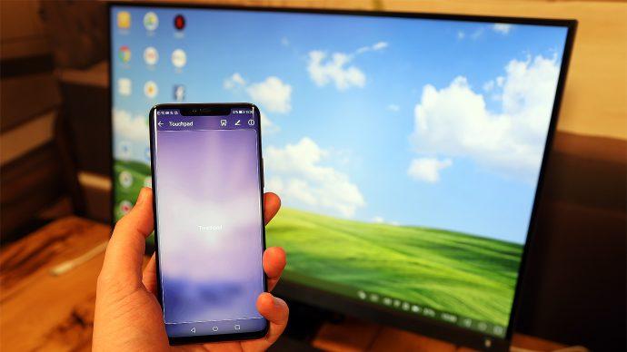 Huawei Mate 20 Pro im Desktop-Betrieb