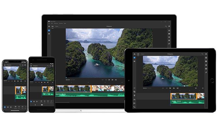 Adobe Premiere Rush CC für iPhone iPad Mac und Android