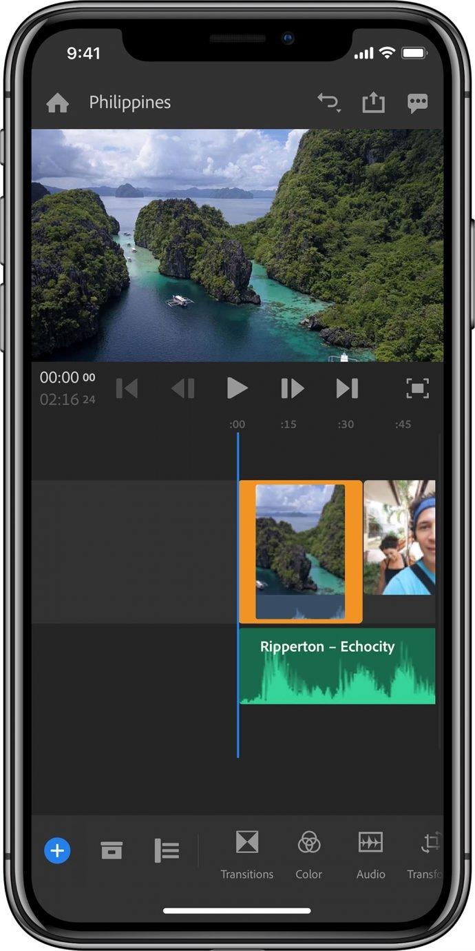 Adobe Premiere Rush CC iPhone X