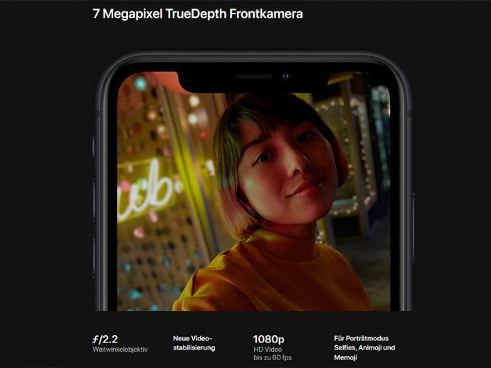 Apple iPhone Xr Frontkamera