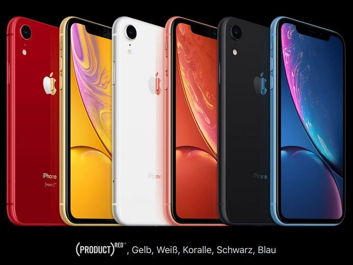 Apple iPhone Xr Farben