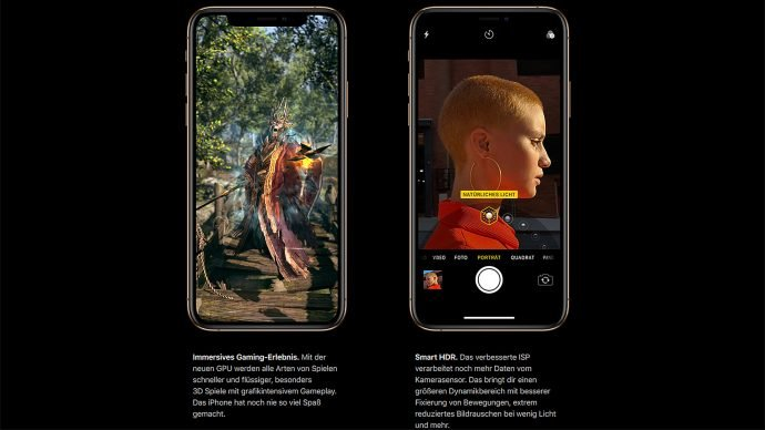 Apple iPhone Xs (Max) Gaming und HDR