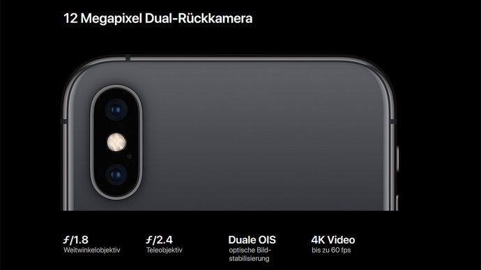 Apple iPhone Xs (Max) Hauptkamera