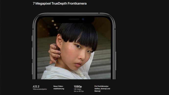 Apple iPhone Xs (Max) Frontkamera