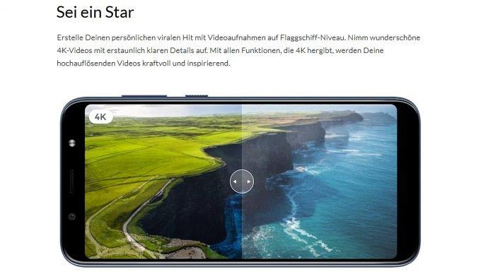 HTC U12 Life 4K-Video