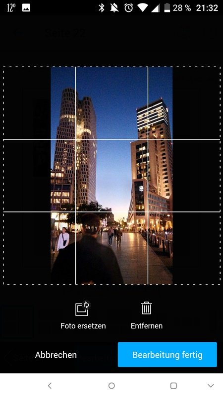 Screenshot Pixum Fotobuch