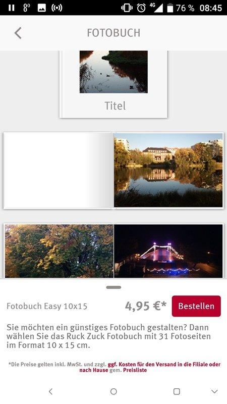 Screenshot Fotobuch