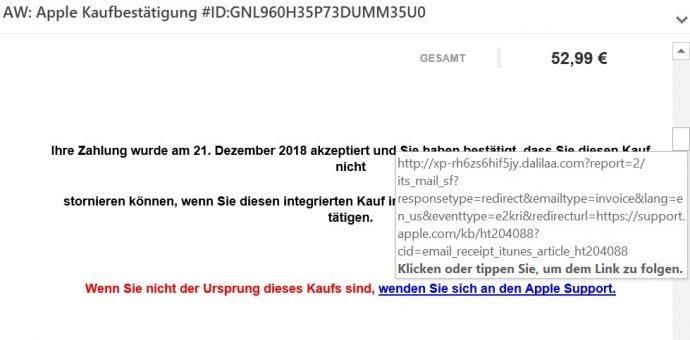 Neuer Phishing Versuch Gefälschte E Mail Mit Apple Logo Handyde
