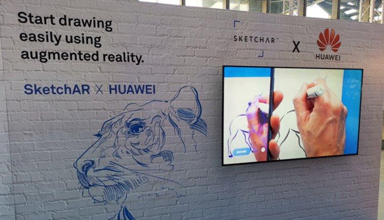 SketchAR ausprobiert bei der Huawei EcoConnect 2018