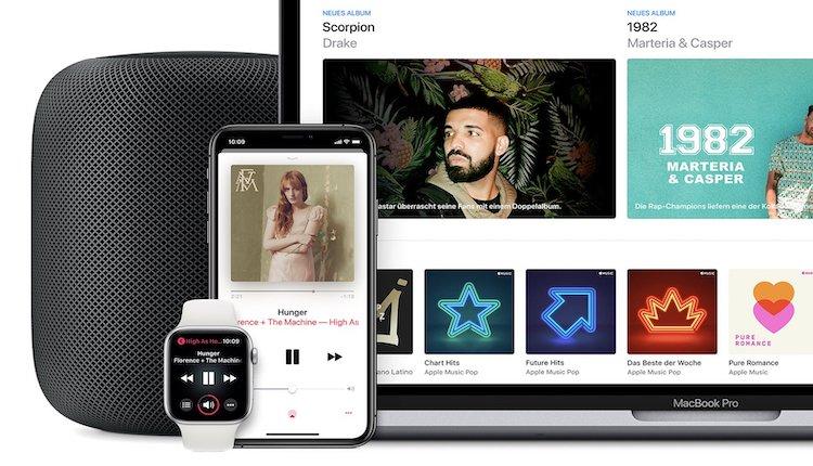 Apple Music auf mehreren Apple Geräten