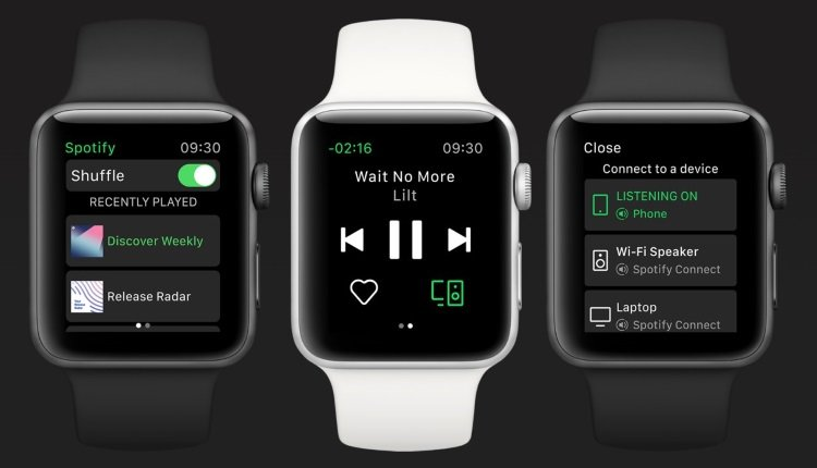 Spotify-App für Apple Watch