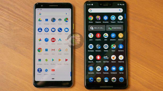 Google Pixel 3 Lite mit Pixel 3 XL