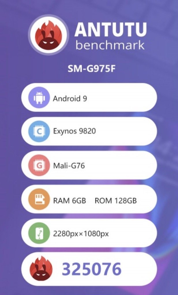 Samsung Galaxy S10+ auf AnTuTu geleakt