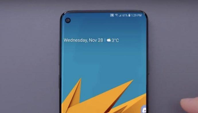 Samsung Galaxy S10 Loch-Notch im Konzept-Video zu sehen