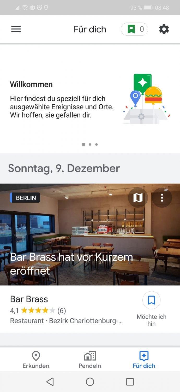 Google Maps_Fuer dich_Tab