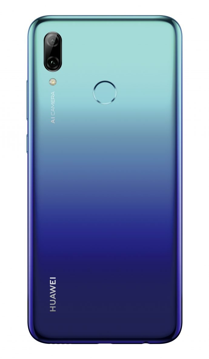 Das neue Huawei P smart 2019 in Aurora Blue.