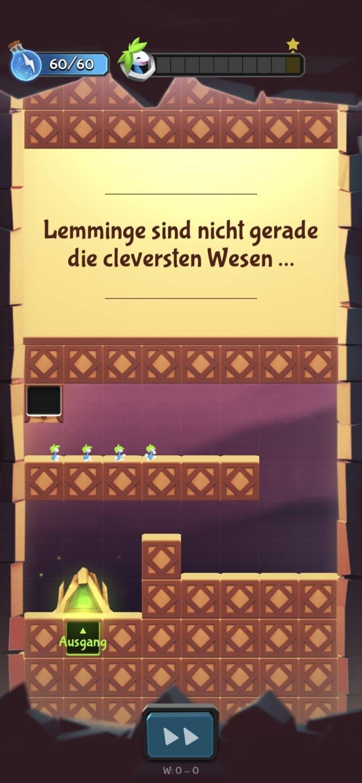 Lemmings für iOS und Android erschienen