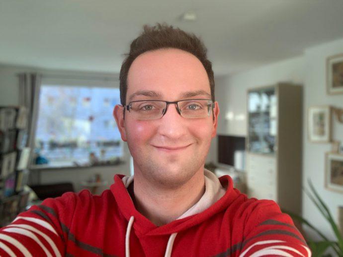 iPad Pro 2018 12.9 Porträtmodus Konturenlicht