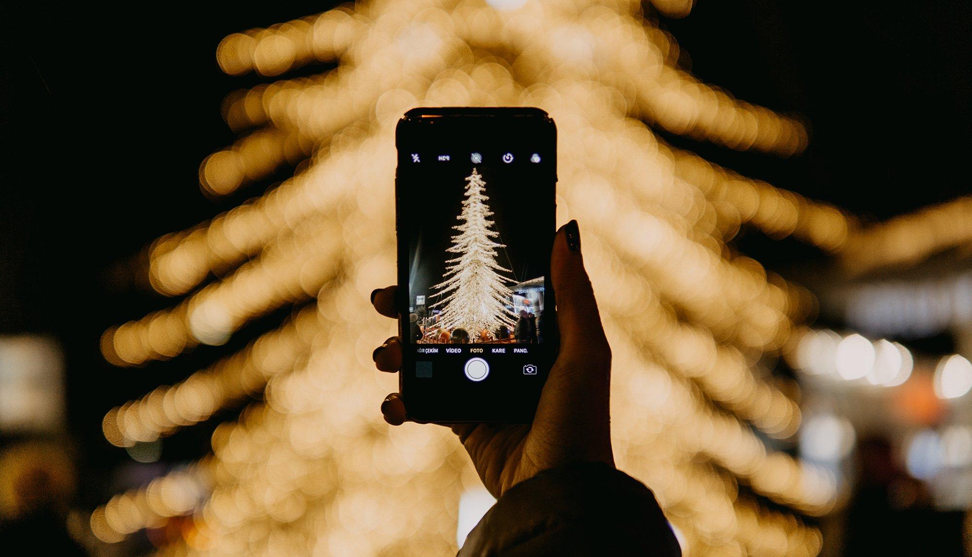 Advents- und Weihnachtsgrüße mit dem Handy.