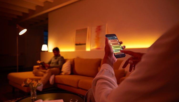 Philips Hue App smarte Lampen steuern