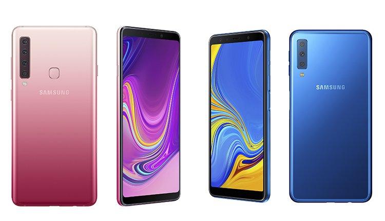 b049cce9cebf9 Vergleich Galaxy A9 (2018) Pink und Galaxy A7 (2018) Blau. Quelle  Samsung