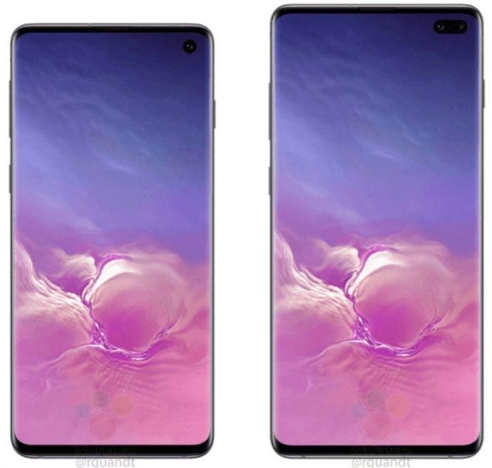 Displays des Galaxy S10 und S10+