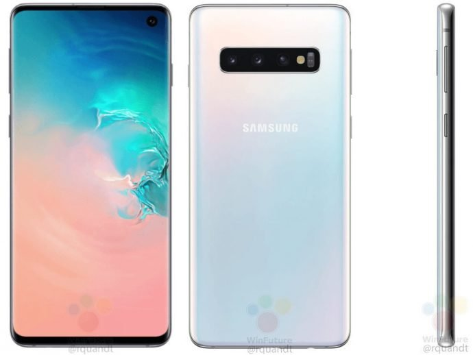 Samsung Galaxy S10 in weißer Version