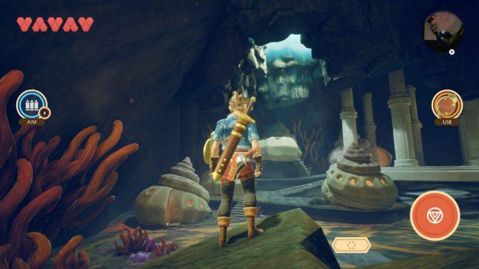 Eine Höhle in Oceanhorn 2