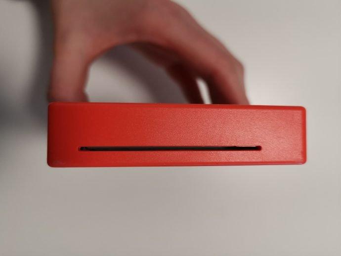 Druckeröffnung beim Polaroid Mint