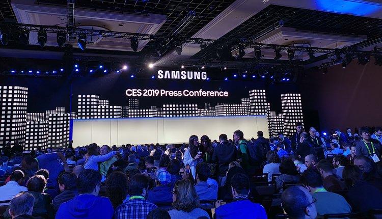 Foto zum Start der Samsung Pressekonferenz auf der CES 2019
