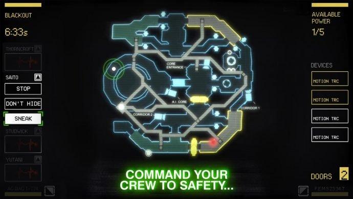 Alien: Blackout - Karte des Stationssystems