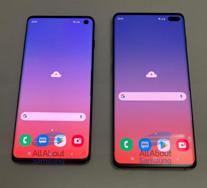 Samsung Galaxy S10 und Galaxy S10+ Front mit Loch-Notch