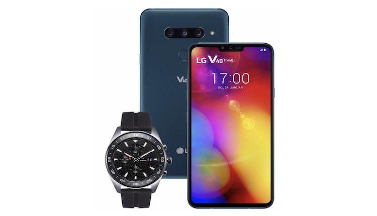 LG V40 ThinQ und LG Watch W7
