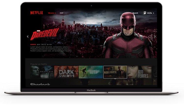 Netflix auf dem Laptop
