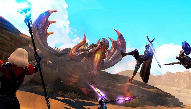 Rangers of Oblivion Kampfszene gegen einen Behemoth