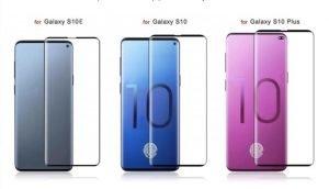 Samsung Galaxy S10 E neben den anderen Modellen