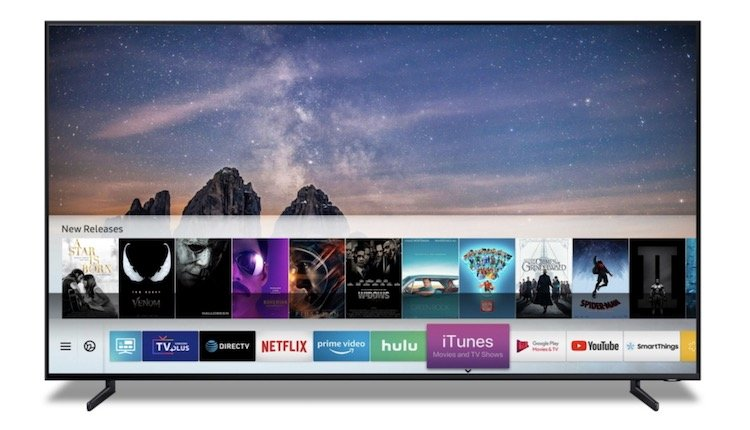 Samsung Smart TV mit iTunes Movies