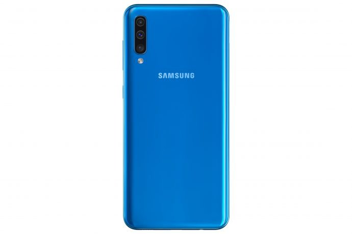 Das Samsung Galaxy A50 in Blau