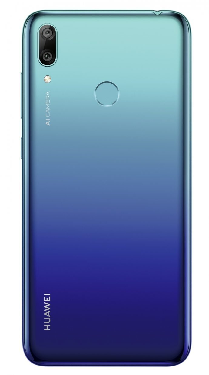 Huawei Y7 _hinten aurora blue