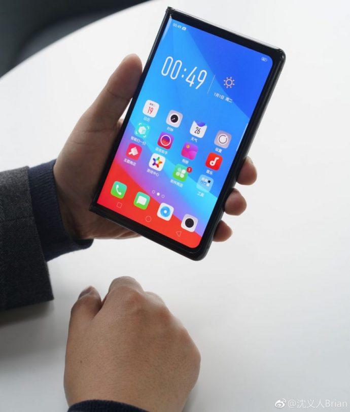 Oppos faltbares smartphone_zusammen