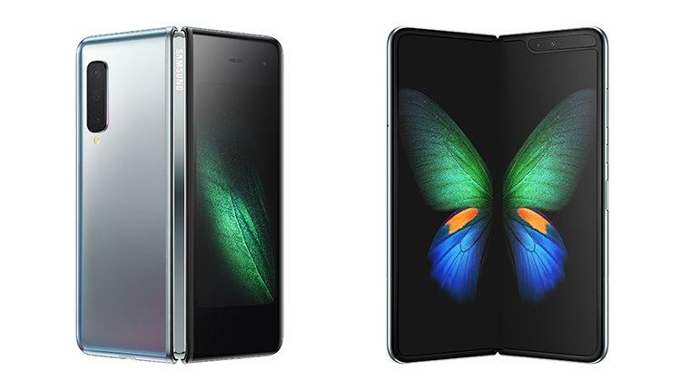 Samsung Galaxy Fold zusammengefaltet auseinander gefaltet