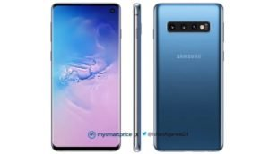 Samsung Galaxy S10 in Blau