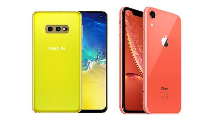 Samsung Galaxy S10e und iPhone Xr im Vergleich