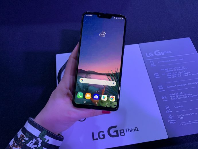 Das Display des LG G8 ThinQ