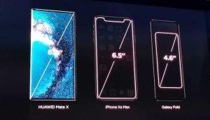 Huawei Mate X vs iPhone XS Max vs Galaxy Fold