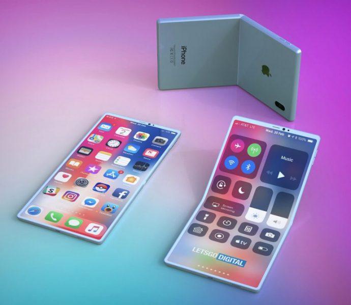 Konzept-Bilder des faltbaren iPhones