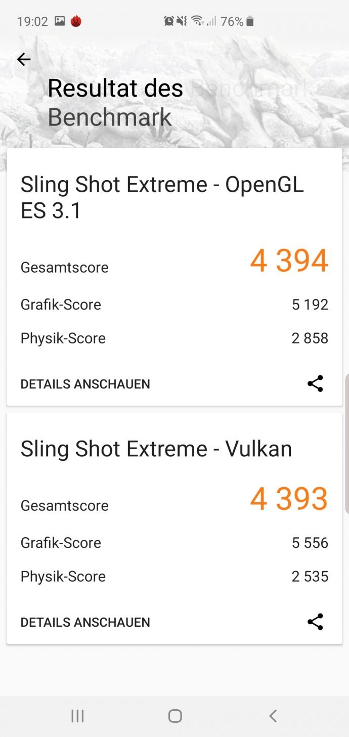 Galaxy S10+ im Test 3DMark