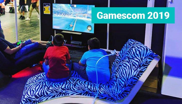 Ein Rockchair Stuhl auf der Gamescom Messe 2019